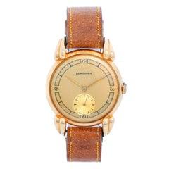 Longines 18 Karat Yellow Gold Wristwatch, circa 1940s
