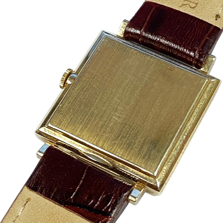Women's or Men's Longines 1950 Mystery Dial Yellow Gold Manual Wind Wrist Watch For Sale