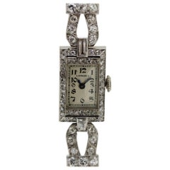 Longines Art Deco Platinum Ladies Watch
