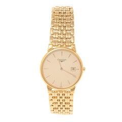 Longines Champagne Gold Plated Grande Classique L56322 Men's Wristwatch 33 mm