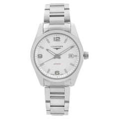 Longines Conquest Stainless Steel Silver Dial Automatic Mens Watch L2.785.4.76.6