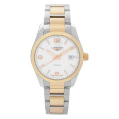 Longines Conquest Two-Tone Steel White Dial Automatic Mens Watch L2.785.5.76.7