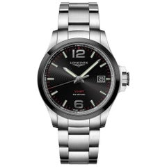 Longines Conquest V.H.P. Black Dial Stainless Steel Men's Watch 37294566