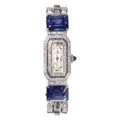 Longines Diamond Cocktail Wristwatch, Circa 1950