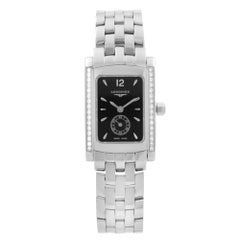 Longines DolceVita Steel Diamond Black Dial Quartz Ladies Watch L5.155.0.76.6