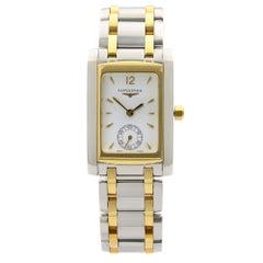 Longines DolceVita Steel Gold Tone White Dial Quartz Ladies Watch L5.502.5.28.7