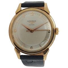 Longines Fab Suisse, 18 Karat Yellow Gold Case, Handwinding Wristwatch