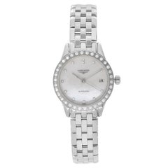 Longines Flagship Date Steel Diamond MOP Dial Automatic Ladies Watch L42740876
