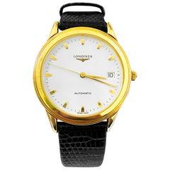 Longines Flagship Men's Automatic Watch 18 Karat Yellow Gold Case