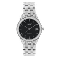 Longines Flagship Stainless Steel Black Dial Automatic Mens Watch L4.774.4.52.6