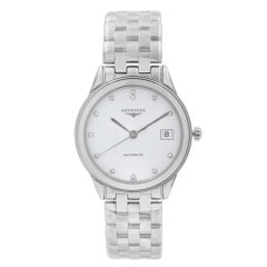 Longines Flagship Steel White Diamond Dial Automatic Mens Watch L4.774.4.27.6