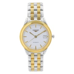 Longines Flagship Two-Tone Steel White Dial Automatic Mens Watch L4.774.3.22.7