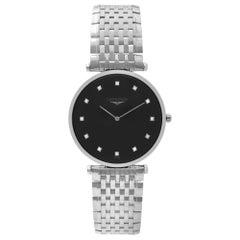Longines La Grande Classique Steel Black Diamond Dial Mens Watch L4.709.4.58.6