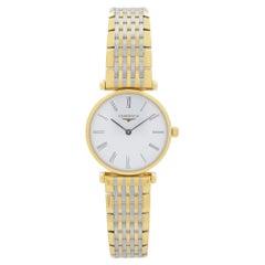 Longines La Grande Classique Steel Gold White Dial Mens Quartz Watch L42092117