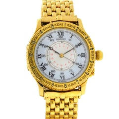 Longines Lindbergh Hour Angle 989.5216 18 Karat Yellow Gold Watch