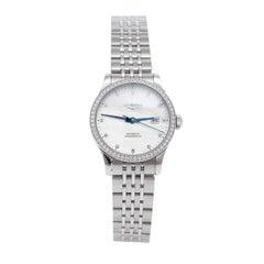 Longines MOP Diamonds Stainless Steel Record L23210876 Women's Wristwatch 30 mm