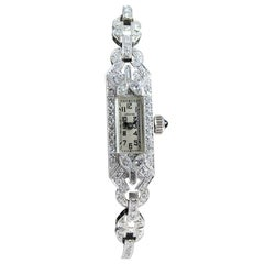 Longines Platinum and Diamond Ladies Dress Watch, circa 1940s