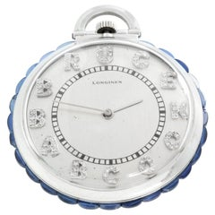 Longines Platinum Art Deco Pocket Watch