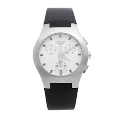 Longines Silver Stainless Steel Rubber L36184 Men's Wristwatch 38mm