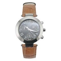 Longines Stainless Steel Chronograph Quartz Strap Wristwatch