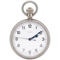 Longines Vintage Deck Watch 19.70N Unisex Stainless Steel Watch