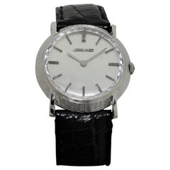 Longines White Gold Original Multifaceted Crystal Dress Manual Watch