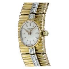 Longines Yellow Gold Diamond Set Vintage Ladies Cocktail Watch 233