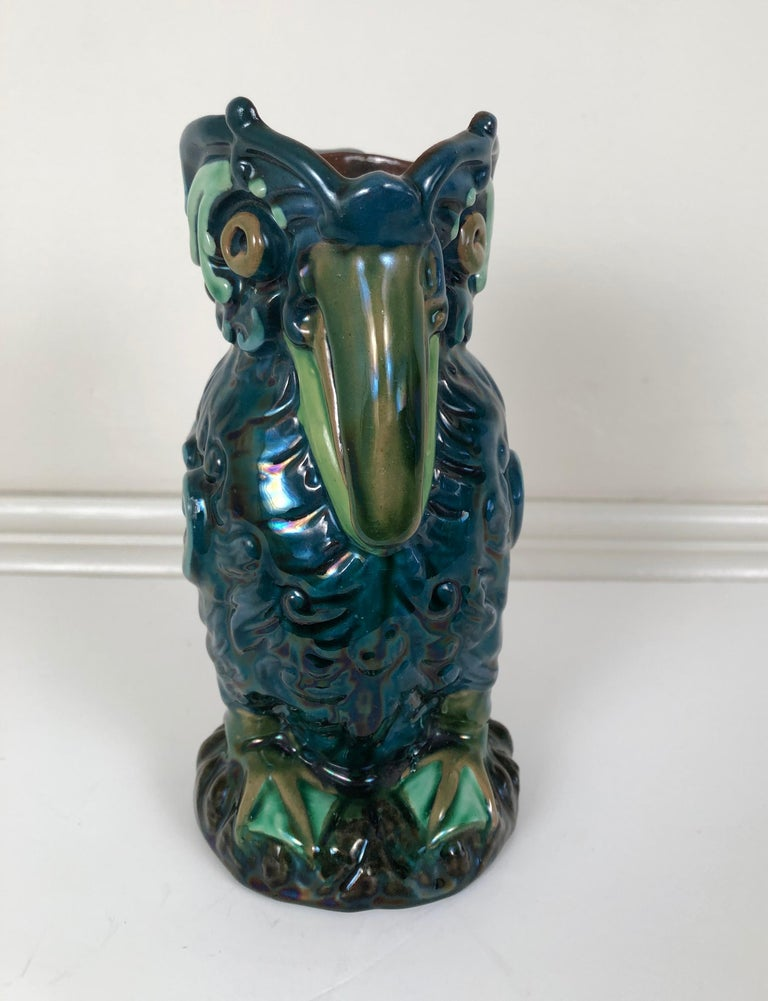 Longpark English Art Pottery Bird Pitcher In Good Condition For Sale In Essex, MA