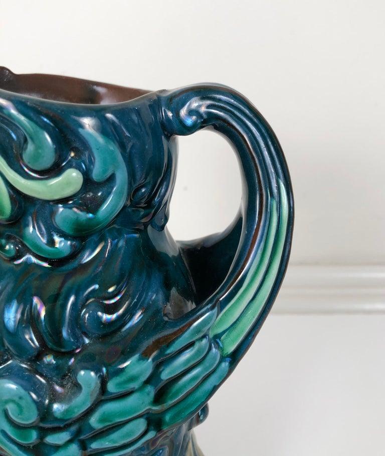 Longpark English Art Pottery Bird Pitcher For Sale 2