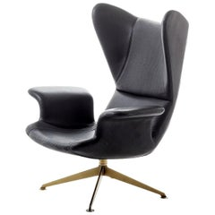 """Longwave"" Embroidered High Back Swivel Armchair by Moroso for Diesel"