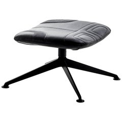 """""""Longwave"""" Embroidered Leather Swivel Stool by Moroso for Diesel"""