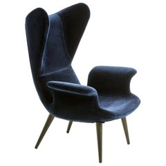 """Longwave"" Fabric or Leather High Back Armchair by Moroso for Diesel"