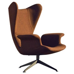 """Longwave"" Fabric or Leather High Back Swivel Armchair by Moroso for Diesel"