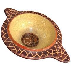 Longwy Primavera Cloisonné Ceramic Dish Art Deco