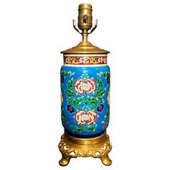 Longwy Urn Mounted as Lamp
