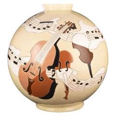 """Longwy vase """"Music"""""""