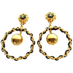 Loop earrings, Chanel by Victoire de Castellane, gold plated 1990s