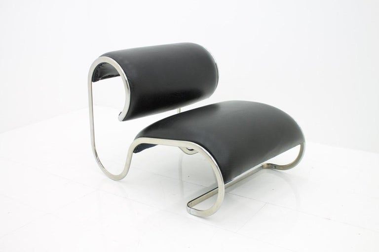 Loop Lounge Chair, Slipper Chair, 1970s For Sale 1