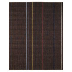 Loop North Striped Natural Fibers Rug by Deanna Comellini 200x250 cm