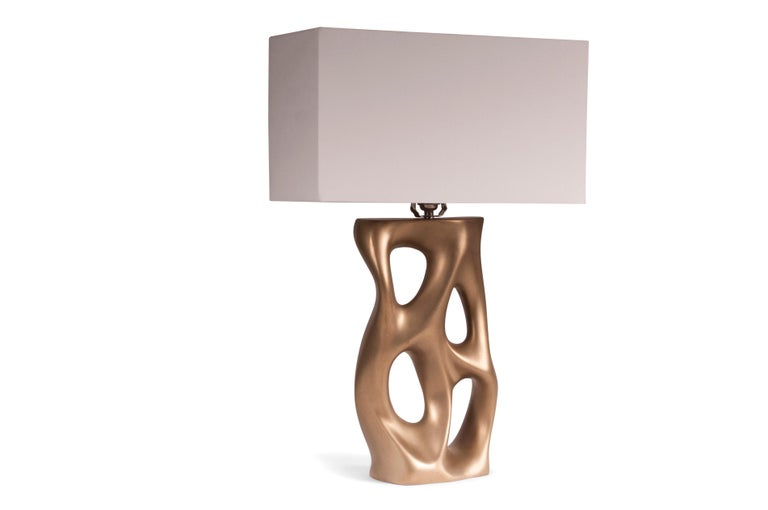 Modern Loop Table Lamp, Gold Finish  For Sale