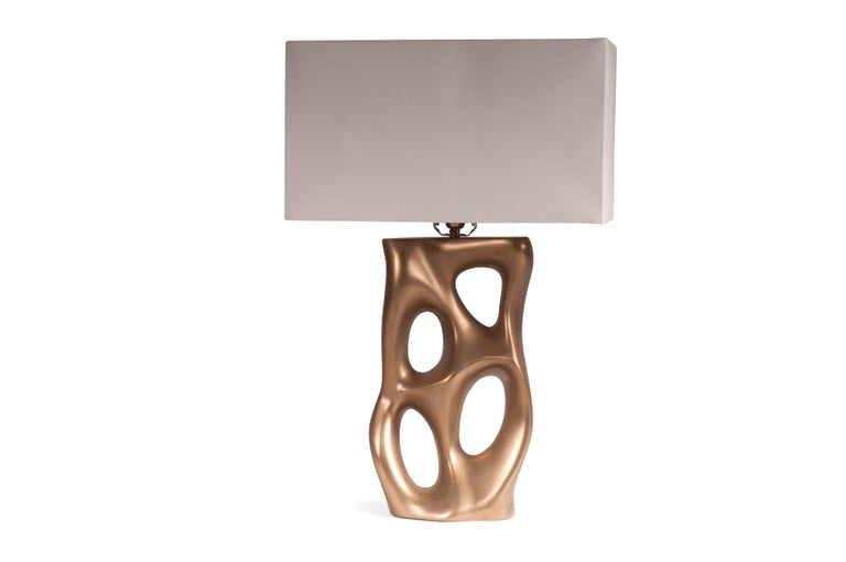 Contemporary Loop Table Lamp, Gold Finish  For Sale