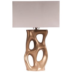 Amorph Loop Table Lamp, Gold Finish