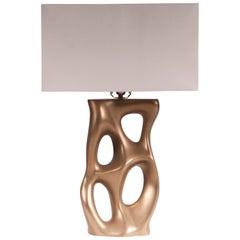 Amorph Loop Table Lamp, Gold Finish