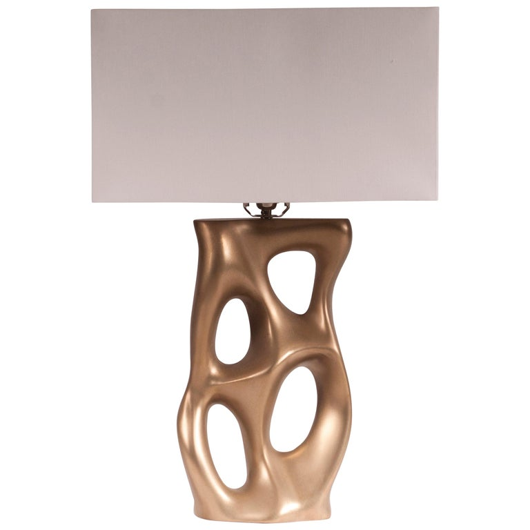 Loop Table Lamp, Gold Finish  For Sale