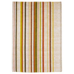 Loop West Striped Colorful Natural Fibers Rug by Deanna Comellini 200x300 cm