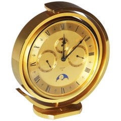 Looping 5 Function Brass Table Clock