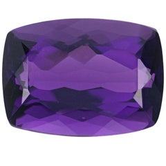 Loose Amethyst, Cushion Cut 11.49 Carat Purple Solitaire