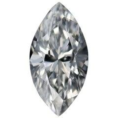 Loose Diamond, Marquise Cut .53 Carat GIA SI2 E Solitaire