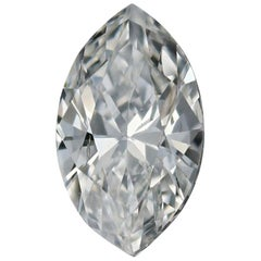 Loose Diamond, Marquise Cut .70 Carat GIA SI1 F Solitaire