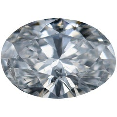 Loose Diamond, Oval Cut .80 Carat GIA I1 G Solitaire